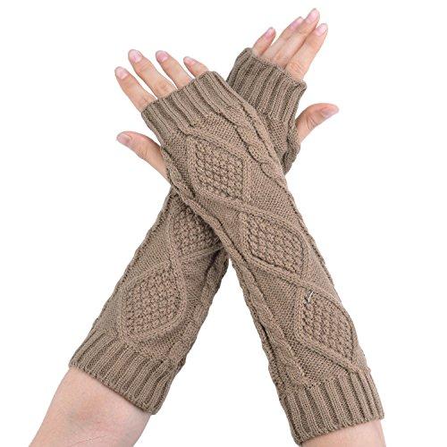 Minetom Donna ragazza guanti in maglia / Scaldamuscoli Stivali Copertine Scalda Guanti ( Albicocca )