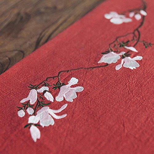48 Zoll Breite Rechteckiger Tisch (QIZHU0 Tischläufer MA Buri- Striped Home Textile Tischdecken Leinen Tischdecke red 100x30)