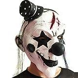 SaiDeng Máscara Del Payaso De Halloween Sombrero De Pelo Fiesta De Disfraces