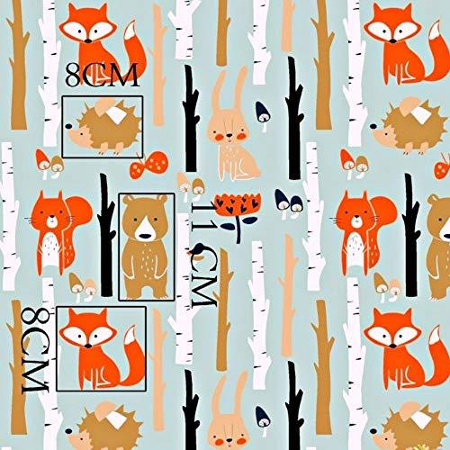 Fuchs Hase Wald 100{31d48636cf862847b5663c94e727664054bc9e7c2e3bb7aa40f80c722486519d} Baumwolle Baumwollstoff Kinderstoff Meterware Handwerken Nähen Stoff Tiermotiv 100x160cm 1 Meter (Fuchs Hase Wald)