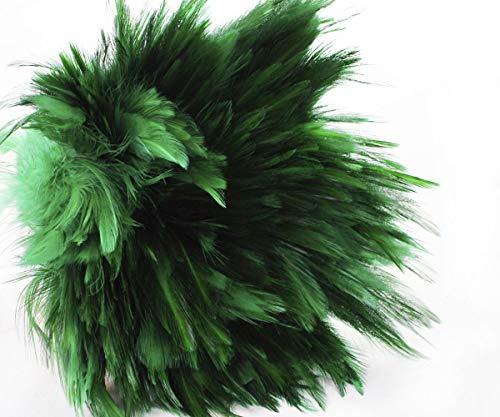 30pcs Smaragdgrün Gefärbte Hahn Federn, Anhänger, Ohrringe Schmuck, Modewaren Sattel Kostüm Dreamcatcher 11-13cm (Kostüm Schmuck Smaragde)