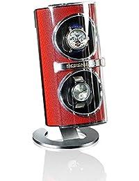 Caja para relojes automáticos con rotor Ceno rojo Caja giratoria (Watch Winder) Rotador de relojes de lujo