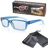 3D Brille für Kinder - TV & Kino - Blau/Transparent - kompatibel mit Cinema 3D von LG, Easy 3D von Philips und Kinos mit RealD - mit Brillenbeutel und Putztuch