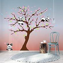 Bdecoll Decorativo para Pared Vinilos Arbol Decoraciones Del Arte con flores de rosa-2.2 *