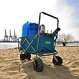 Uquip Faltbarer Strand Bollerwagen Beach Buddy 100KG Tragkraft
