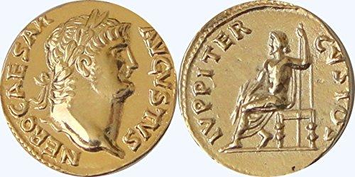 nero Medaille, Jupiter spart ihn von Verschwörung Nero/Jupiter (65AD) (18mm 3G) 24g (Römische Göttin Der Liebe)
