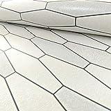 Holden Apex Fliesen Effekt Muster Tapete Marmor Glitzer Motiv Küche Badezimmer - Weiß Schwarz 89270