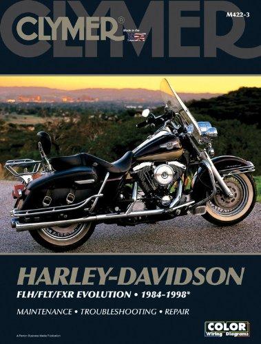 Harley-Davidson Flh/Flt/Fxr Evolution 1984-1998 (CLYMER MOTORCYCLE REPAIR) (Davidson Themen Harley)