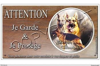 Panneau chien ou plaque Berger-Allemand- 30 cm