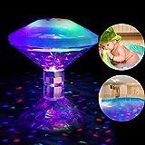 Winzwon LED Pool Beleuchtung Unterwasser Licht mit RGB und 7 Modi Disco Beleuchtung Licht show für schwimmende Poolbeleuchtung für Teich Pool Spa Whirlpool (Batterie nicht enthalten)