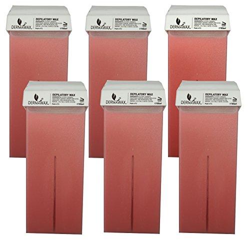 derma-wax-pink-6-x-100-ml-cera-cartucce-cartucce-di-cera-calda-cera-depilatoria-rimozione-dei-capell
