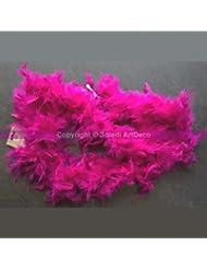 Guirlande Boa légère de plumes Rose fuschia, 2 mètres, poids 50 g