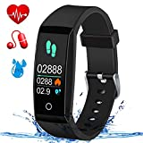 MSDJK Fitness Tracker, Orologio Fitness Activity Tracker Braccialetto Intelligente.IP 67 Smartwatch,Pedometro,Cardiofrequenzimetro, misuratore della Pressione sanguigna?Compatibile iOS e Android