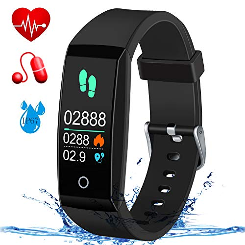 MSDJK Fitness Tracker, Orologio Fitness Activity Tracker Braccialetto Intelligente.IP 67 Smartwatch,Pedometro,Cardiofrequenzimetro, misuratore della Pressione sanguigna,Compatibile iOS e Android