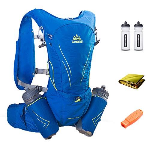 BOHENG Wasserbeut-Rucksack, Marathon-Wasserflasche, Laufweste, Perfekte Outdoor-Ausrüstung Rucksack, geeignet zum Skifahren, Laufen, Wandern, Radfahren,Blue