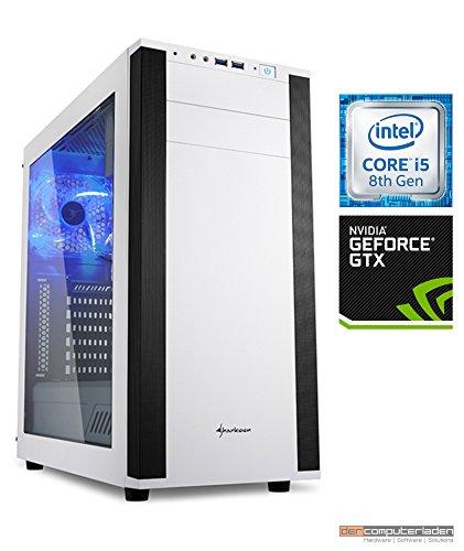 Gaming PC M25W Intel, i5-8400 6x2.8 GHz, 1TB HDD, 32GB DDR4, GTX1080 8GB, Windows 10 (Testversion) dercomputerladen