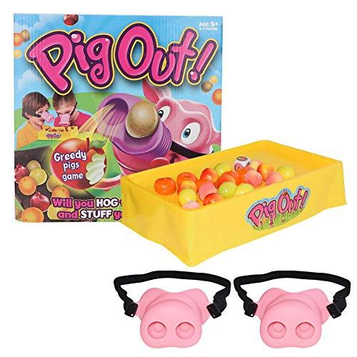 2 STÜCKE Spaß Schwein Nase Heikles Spielzeug Pig Out Cosplay Kostüm Tier Maske mit Gummiband Würfel Eltern kind interaktive Spielset Geburtstagsgeschenk für Kinder Erwachsene