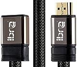0.5M HDMI Stecker zur weiblichen Verlängerungs-Kabel-Unterstützung 4K @ 60Hz 3D Entschließung HDMI Extender für Fernsehstock, Nintendo Schalter, Xbox, PS3 / PS4, Blu Ray-Spieler, HDTV, Roku, Boxee, Laptop / PC usw. IBRA HDMI Verlängerung