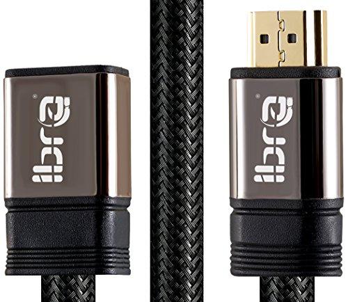 IBRA 0.5M HDMI Stecker zur weiblichen Verlängerungs-Kabel-Unterstützung 4K@60Hz 3D Entschließung HDMI Extender für Fernsehstock,Nintendo,Xbox,PS3/PS4,Blu Ray-Spieler,HDTV, Roku,Boxee,Laptop/PC usw. -