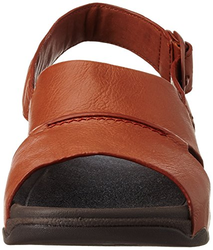 FitFlop Bando Leather Sandals, Sandales  Bout ouvert homme Marron (Dark Tan)