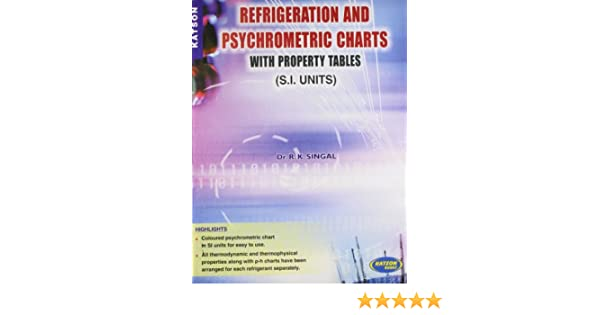 Buy Refrigeration And Psychrometric Charts With Property Tables