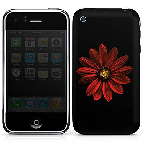 DeinDesign Apple iPhone 3Gs Folie Skin Sticker aus Vinyl-Folie Aufkleber Blume Flower Rot