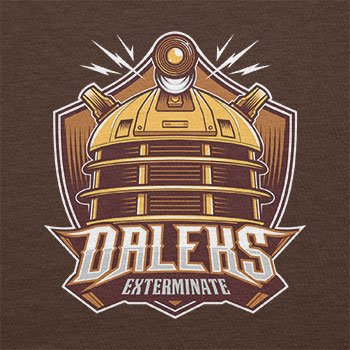 NERDO - Daleks Exterminate - Damen T-Shirt Braun