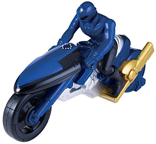 Bandai 38072 - Super Megaforce - Time Force Cycle und Ranger, blau (Megaforce Ranger Power Blau)