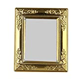 1/12 Doll House Miniature Mirror with Gold Frame