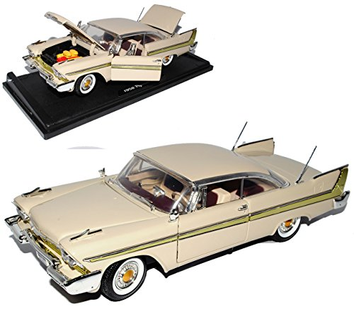 Plymouth Fury 1958 Coupe Beige Oldtimer 1/18 Motormax Modellauto Modell - Plymouth Auto Modelle