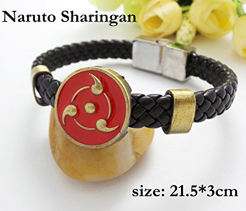 SUNKEE Naruto Cosplay Uchiha Sasuke Sharingan Polsino Braccialetto Figura Del Giocattolo Cosplay (Sh