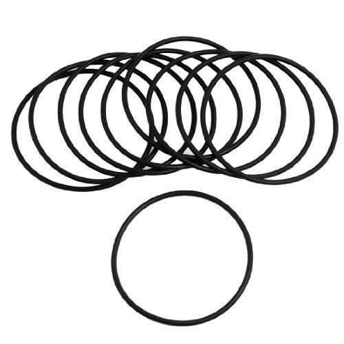 Sourcingmap - 10 pezzi in gomma nera 60mm paraolio x 2,5 millimetri o anelli di guarnizioni rondelle