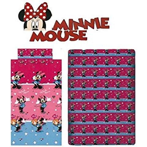 Sabanalia - Juego de sábanas Disney Minnie - Cama 90, Unico