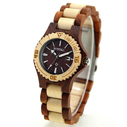 bewell-w020al-wooden-watch-with-wood-straps-quartz-thin-case-women-wrist-watches-day-display-for-you