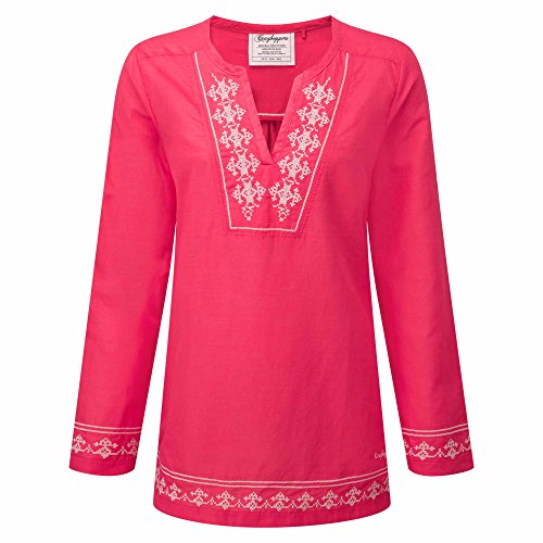 Craghoppers Womens/Ladies Clemence Wicking Long Sleeve Summer Top Watermelon