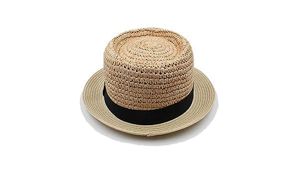 Ruanyi Cappello Estivo da Donna con Cappello Estivo da Donna in Rafia per  Cappelli Eleganti Cappello Elegante da Donna con Montatura in Pizzo e  Ricami di ... bcec012d9080