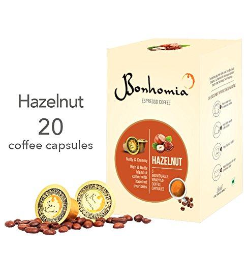 Bonhomia Nespresso Compatible Artisan Hazelnut (Hazelnut Flavoured) Coffee Capsules, 20...