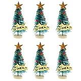 MagiDeal 10pcs Miniatur Weihnachtsbaum Puppenzubehör für 1:12 Puppenhaus Weihnachten Dekoration - Grün
