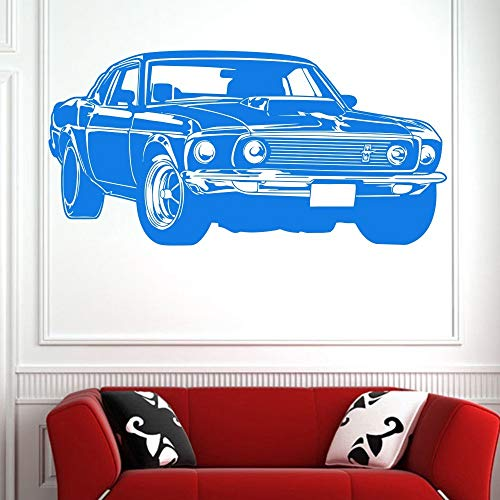Heißer Verkauf Ford Mustang Muscle Racing Auto Wandbild Vinyl Art Decor Aufkleber Vinyl Wandtattoo Wandbild Wandaufkleber 50 * 100 cm