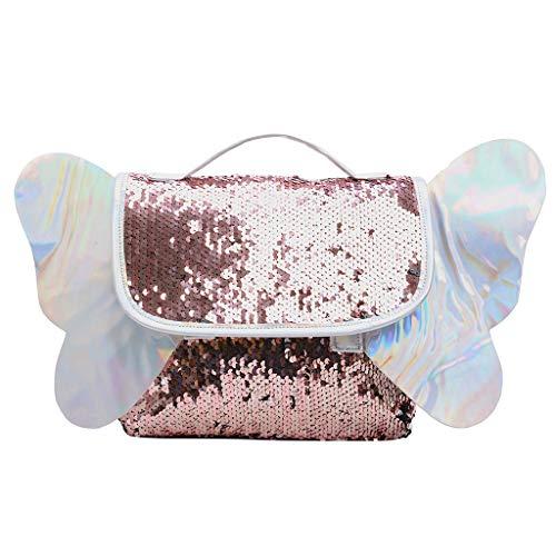 TIFIY Damen Rucksack Mode frauen hit farbe schultasche rucksack schüler schultasche reise umhängetasche Arbeits Täglich Bankett Elegant Tasche(Pink) - Italienische Leder Schultertasche Satchel