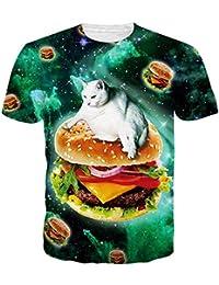 d64f44e0aff09 Goodstoworld Unisexe Tee Shirt Imprimé 3D Manches Courtes T-Shirts - pour  Homme et Femme