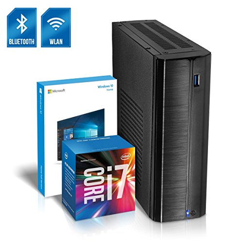 Kiebel Business Mini PC Nano 8.0 [190159] Intel Core i7 8700T 6x2.4GHz Sixcore (Turbo bis 4.0GHz), 8GB DDR4, 240GB SSD, Intel Grafik bis UltraHD(4K), HTPC, WLAN (433Mbit), Bluetooth, Energiespar Mini Computer, Windows 10
