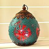 Para colgar marroquí farol LED cuerda luz única iluminación del hogar decoración de temporada azul y rosa