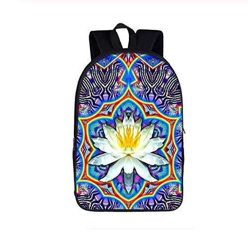 HBHBS Mochila Bolsa de Estudiante Vintage Mandala Flor/Buda Lotus Mujeres Casual Adolescente Niñas Laptop Mujer Viaje