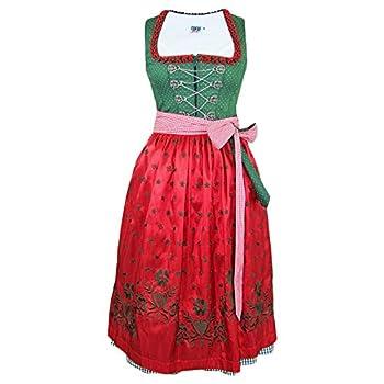 Country Line Dirndl Lucy - Grün Rot 70 cm