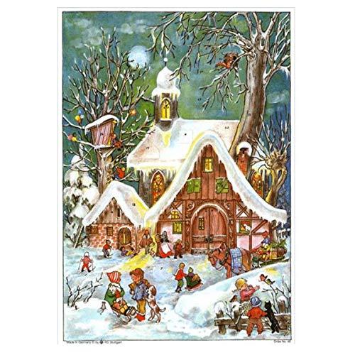 Sellmer Adventskalender Winterliches Treiben A4 hoch