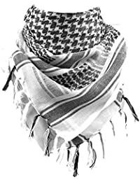 FREE SOLDIER 100% Cotton Military Shemagh Tactical Desert Keffiyeh Scarf Wrap for Men & Women