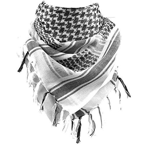 FREE SOLDIER 100% Baumwolle Militär Tactical Desert Shemagh Palästinensertuch-Schal Wrap Für Männer & Frauen (weiß)