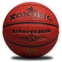 CN Baloncesto de Entrenamiento en Microfibra Baloncesto Juvenil No. 5 práctica estándar de Baloncesto,Rojo,Número 5