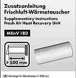 Verlängerung zu Marley MEnV180 Frischluft-Wärmetauscher Isolierrohr